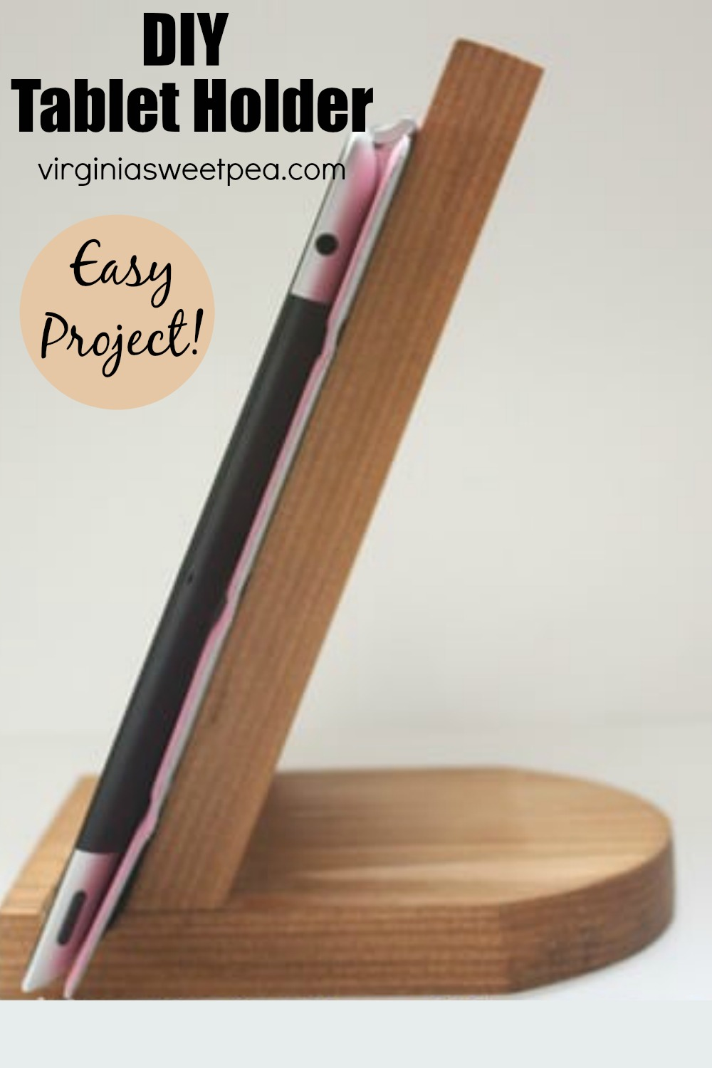 DIY Tablet Holder - A tablet holder is easily constructed using basic woodworking tools. This DIY project is inexpensive, easy, and quite functional. #diytabletholder via @spaula