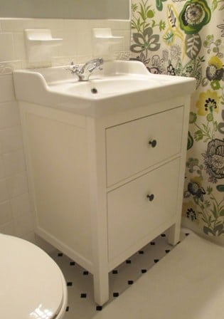 Bathroom Renovation Update How To Install An Ikea Hemnes Sink - Install bathroom sink cabinet