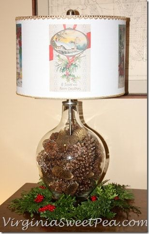 Hometalk Christmas Lamp Decorating Challenge