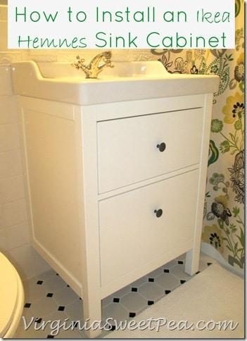 bathroom renovation update how to install an ikea hemnes sink sweet pea. Black Bedroom Furniture Sets. Home Design Ideas