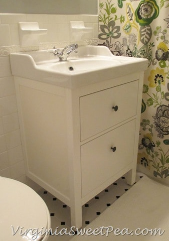 Bathroom renovation update how to install an ikea for Bathroom sink renovation
