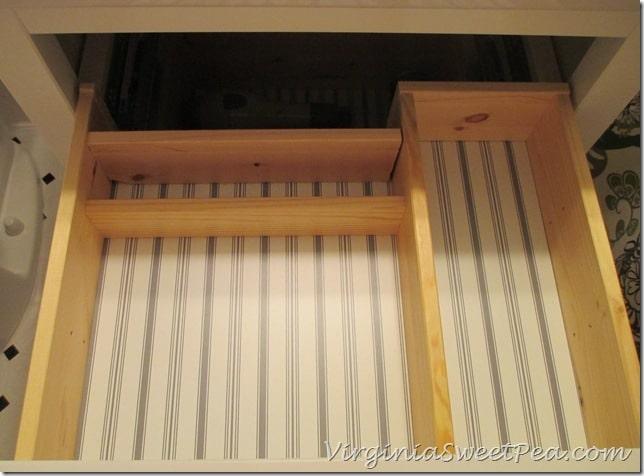 Inside of Ikea drawer for a bathroom sink cabinet