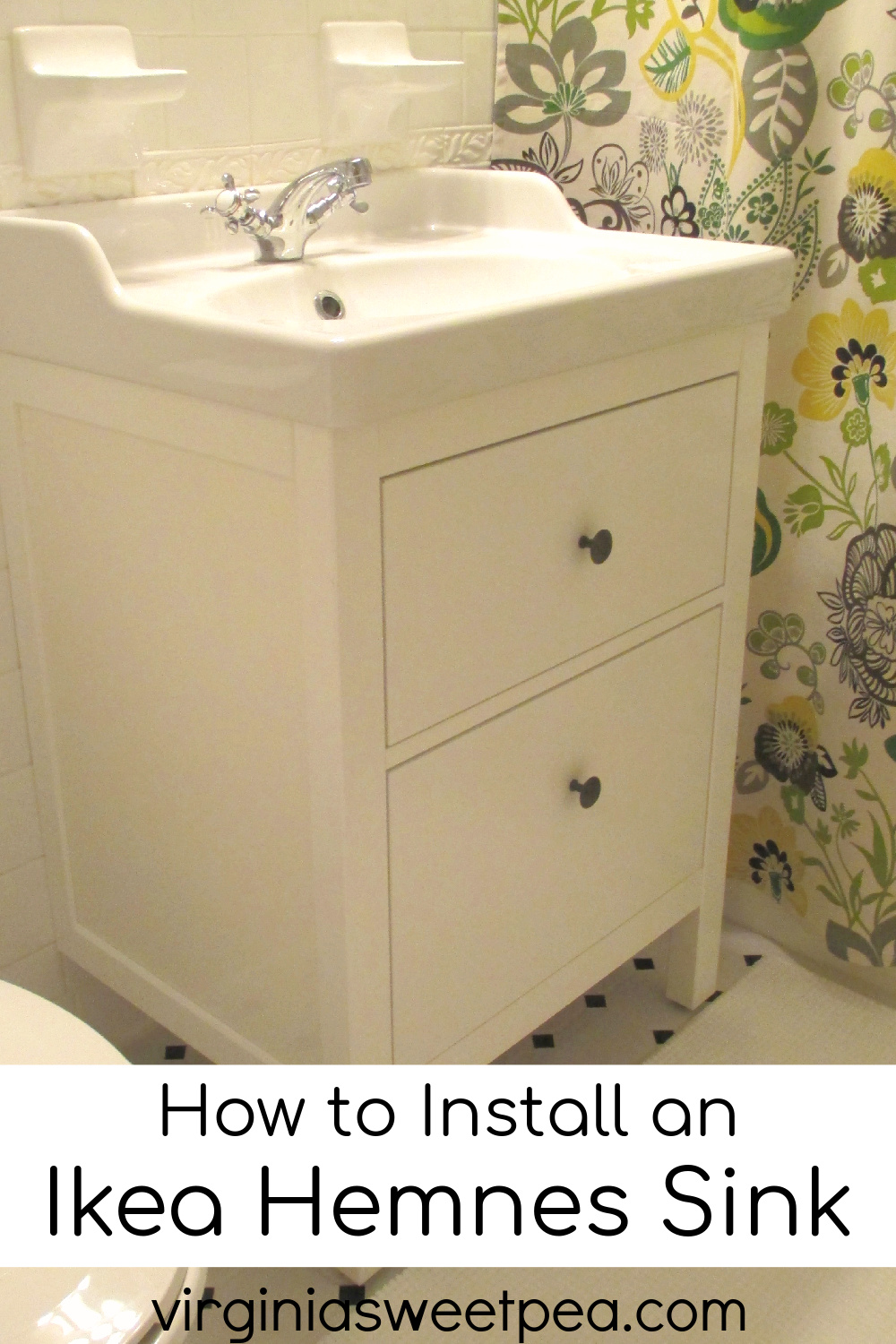 Bathroom Renovation Update How To Install An Ikea Hemnes Sink Sweet Pea