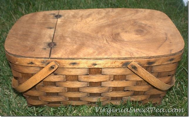 Trash to Treasure Picnic Basket by virginiasweetpea.com