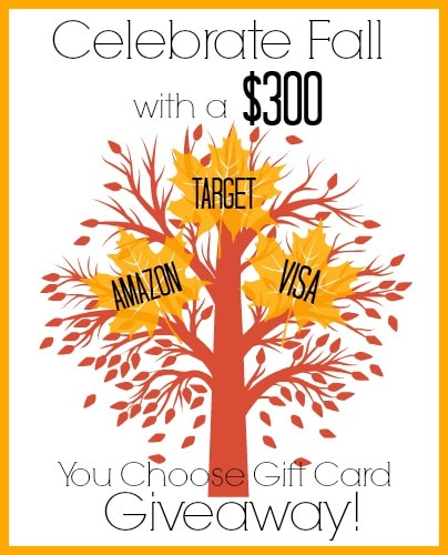 Celebrate Fall $300 Giveaway Graphic