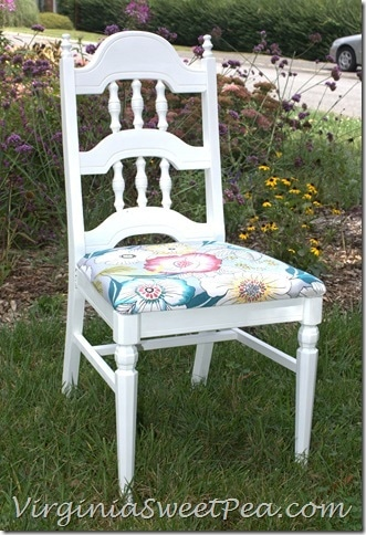 Chair Makeover by virginiasweetpea.com