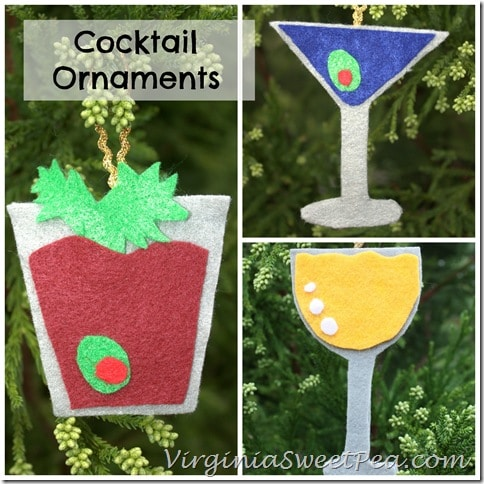 Cocktail Ornaments by virginiasweetpea.com