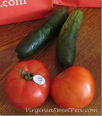Cucumber and Tomato from Relay Foods