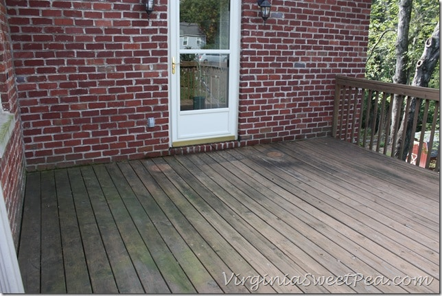 Deck Before - Mildew Shown