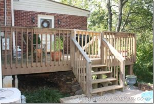 Staining Our Deck–Part One