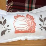 Flour Sack Fall Inspired Pillow