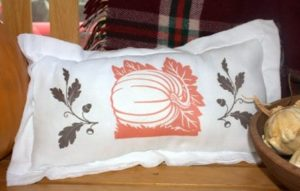 Flour Sack Fall Pillow