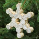 Snowflake Wine Cork Ornament