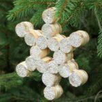 Snowflake Wine Cork Ornament