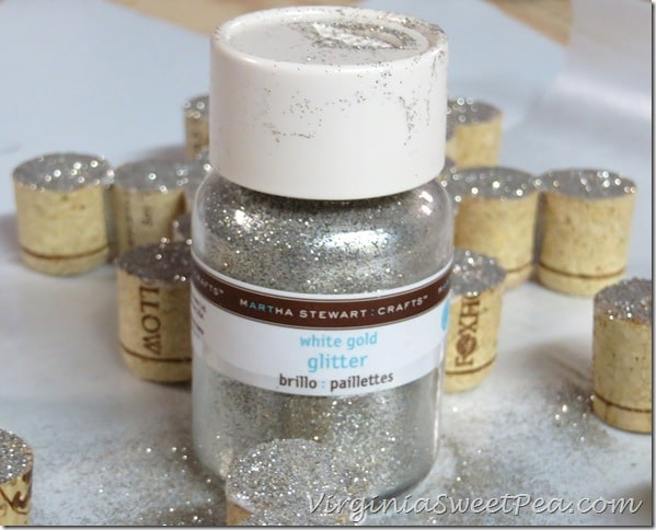 Glitter Wine Cork Ornaments