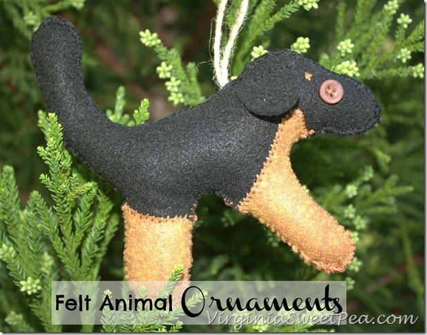 Handmade Felt Animal Ornament