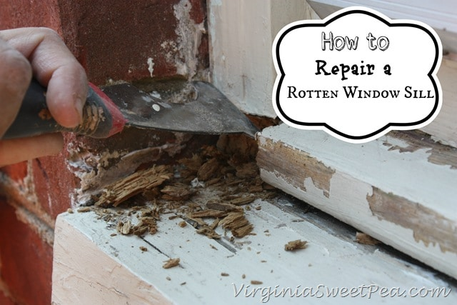 How to repair a rotten window sill sweet pea for Window sill replacement