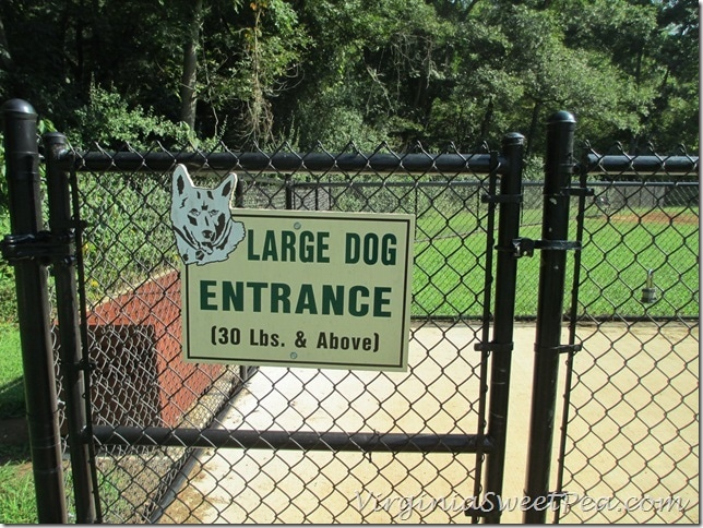 Lynchburg Dog Park - Large Dog Entrance
