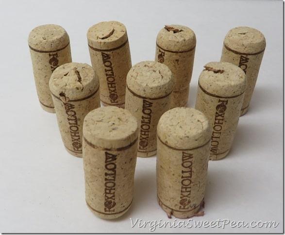 Nine Wine Corks