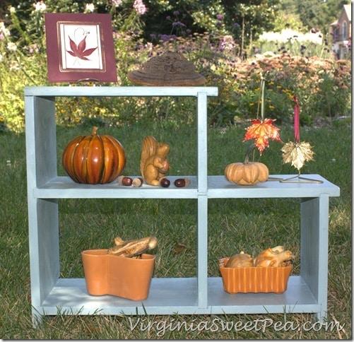 Shelves Styled for Fall