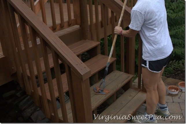 Staining the Stairs