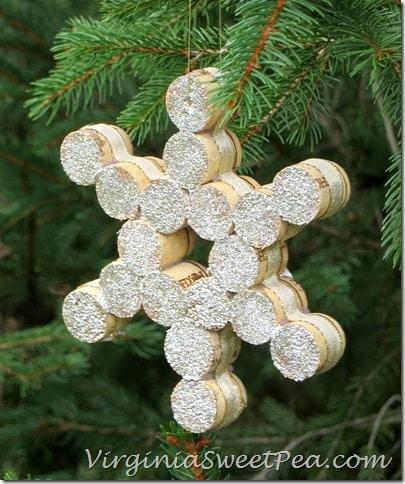 Wine Cork Snowflake by virginiasweetpea.com