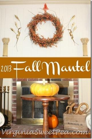 2013 Fall Mantel by virginiasweetpea.com
