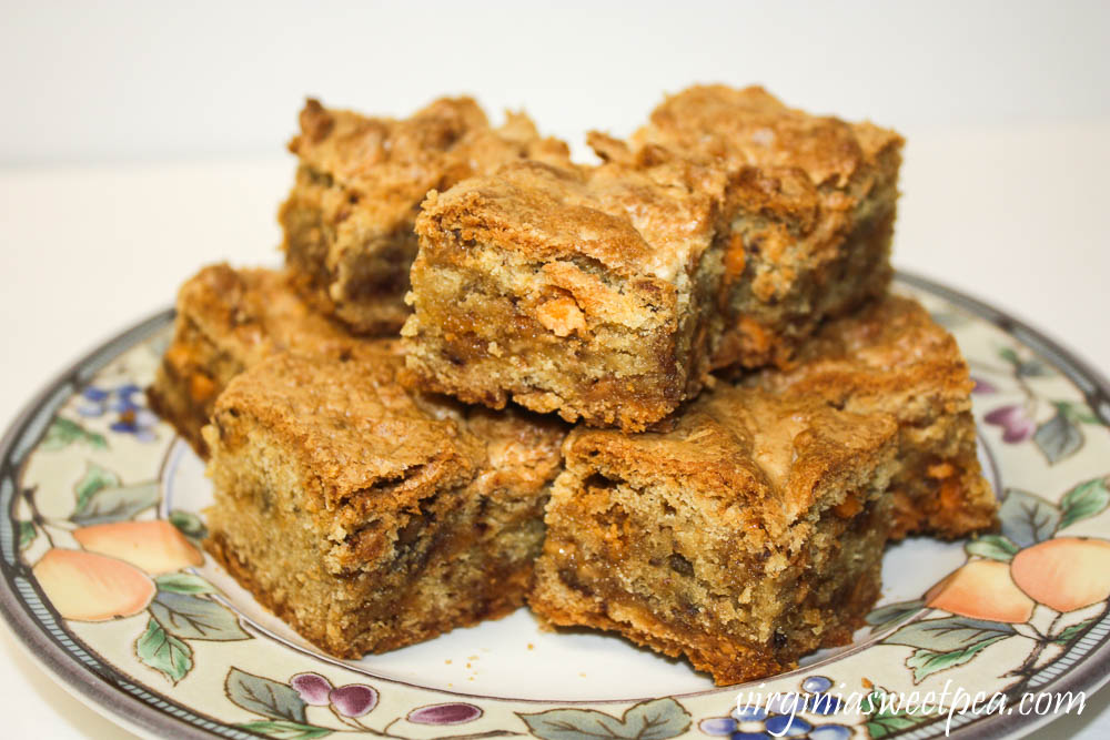 Butterscotch Toffee Blondies