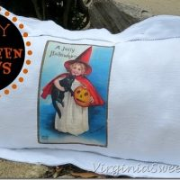 Easy Flour Sack Halloween Pillows