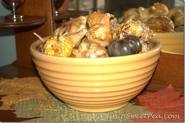 Gourds in Dining Room