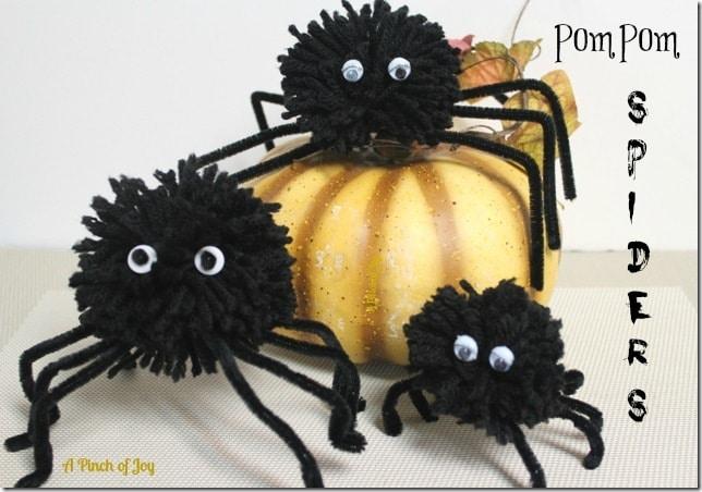 Halloween Pom Pom Spiders