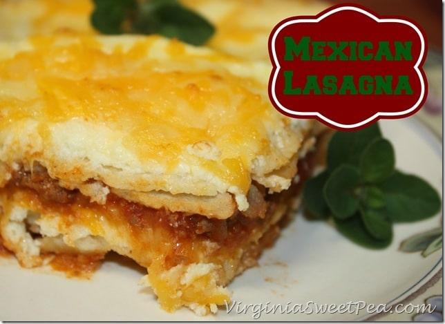 Mexican Lasagna by virginiasweetpea.com