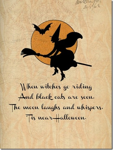 Halloween Printable - Witches go riding