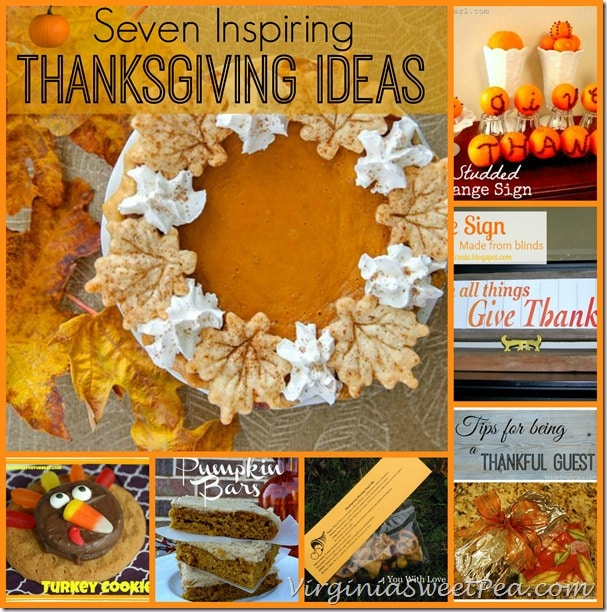 7 Inspiring Thanksgiving Ideas by virginiasweetpea.com