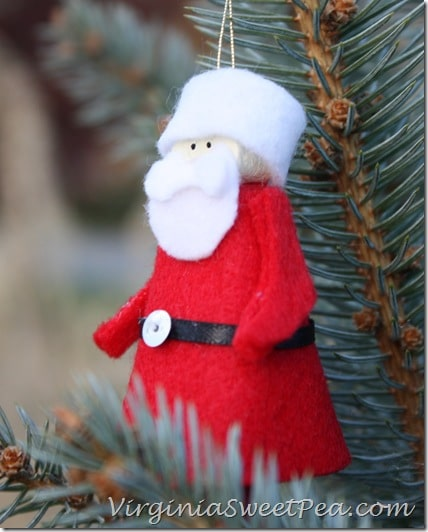 Clothespin Santa Ornament