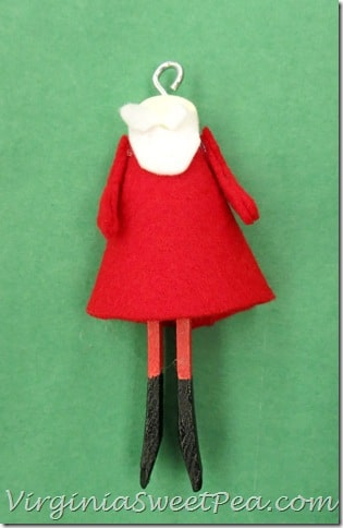 Clothespin Santa Partially Complete