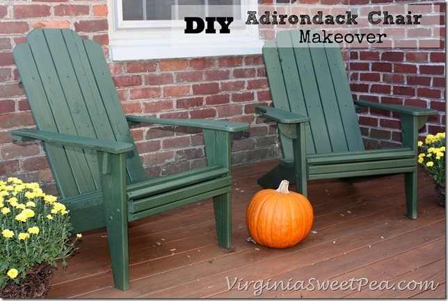 DIY Adirondack Chair Makeover by virginiasweetpea.com