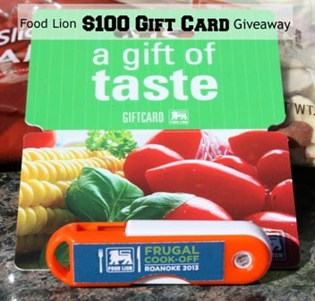 Food Lion $100 Gift Card Giveaway