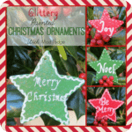 Glittery Painted Christmas Ornaments with Mod Podge