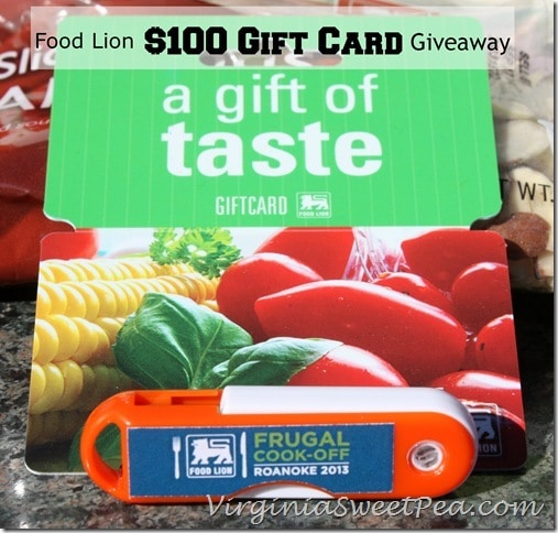 Food Lion Frugal Cook Off 2013 And 100 Gift Card Giveaway Sweet Pea