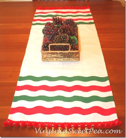 Frog Tape Striped Table Runner