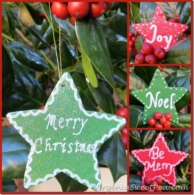Glitter Mod Podge Painted Christmas Ornaments