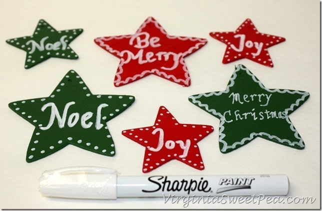 Painting Ornaments with Sharpie Paint