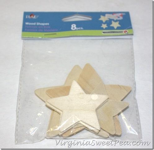 Plaid Wood Stars