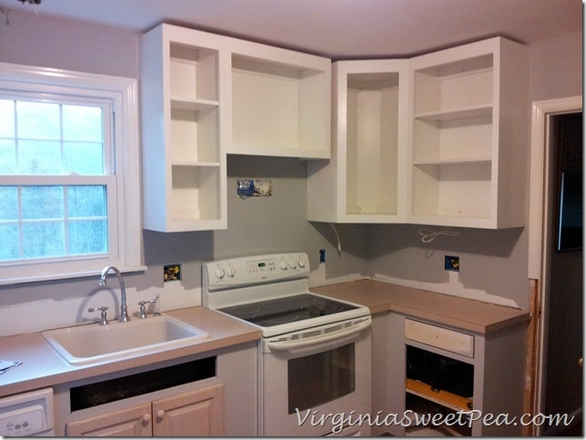 Wall Cabinets Installed