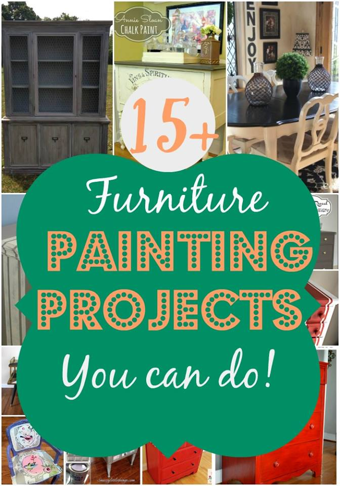 15 Furniture Painting Projects that YOU can DO!