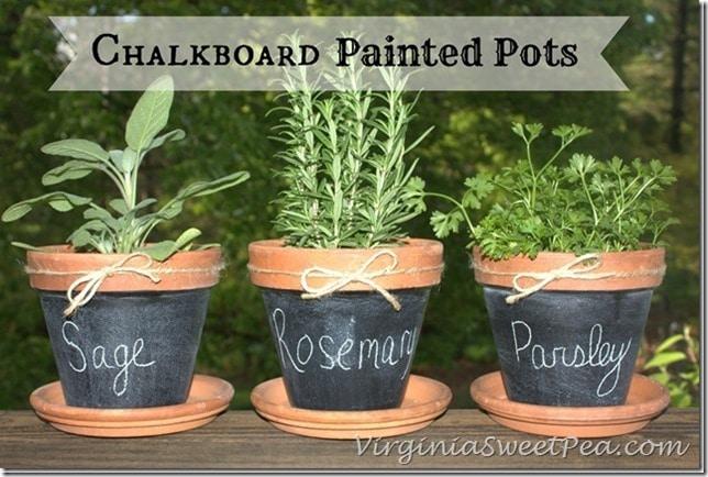 Chalkboard-Paint-Pots by virginiasweetpea.com