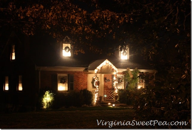 Christmas Outside at Night