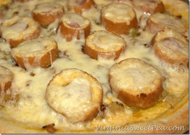 Corn Dog Pizza - Hot out of the oven #GetCorny #cbias