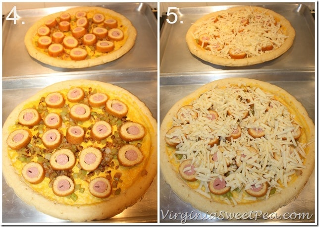 Corn Dog Pizza Steps 4 and 5 #GetCorny #cbias